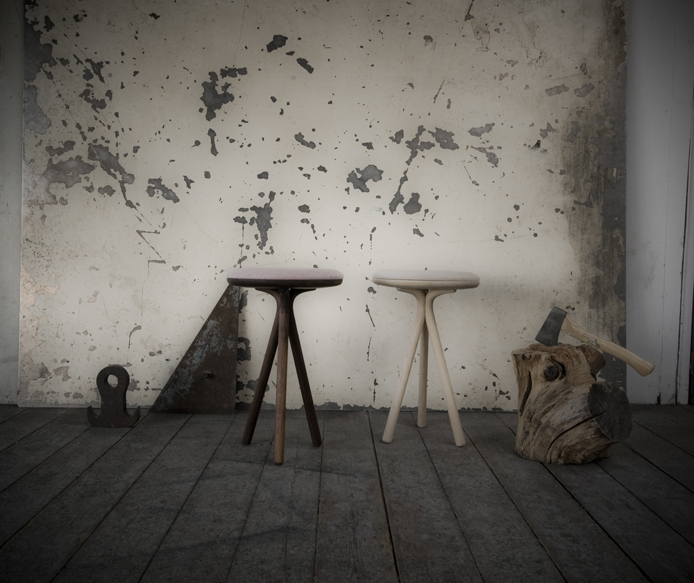 Siri Stools in Walnut and Ash