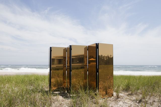 A Few Golden Moments, 2011 Aluminum, steel, glass and hardware