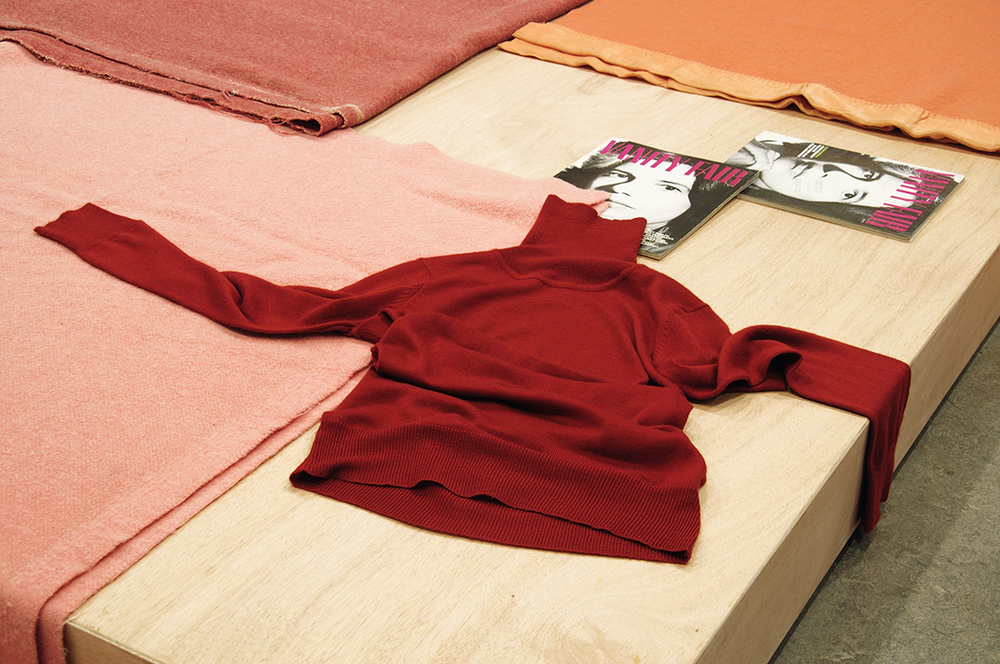 Susan Blushing, 2011 Wood, blankets, magazines, chair and sweaters