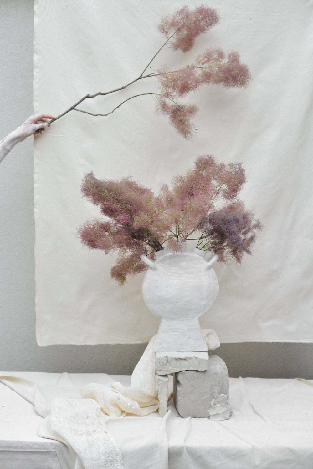 Photo by Jenna Saraco, Styling, Floral and Vessel by Simone Bodmer-Turner