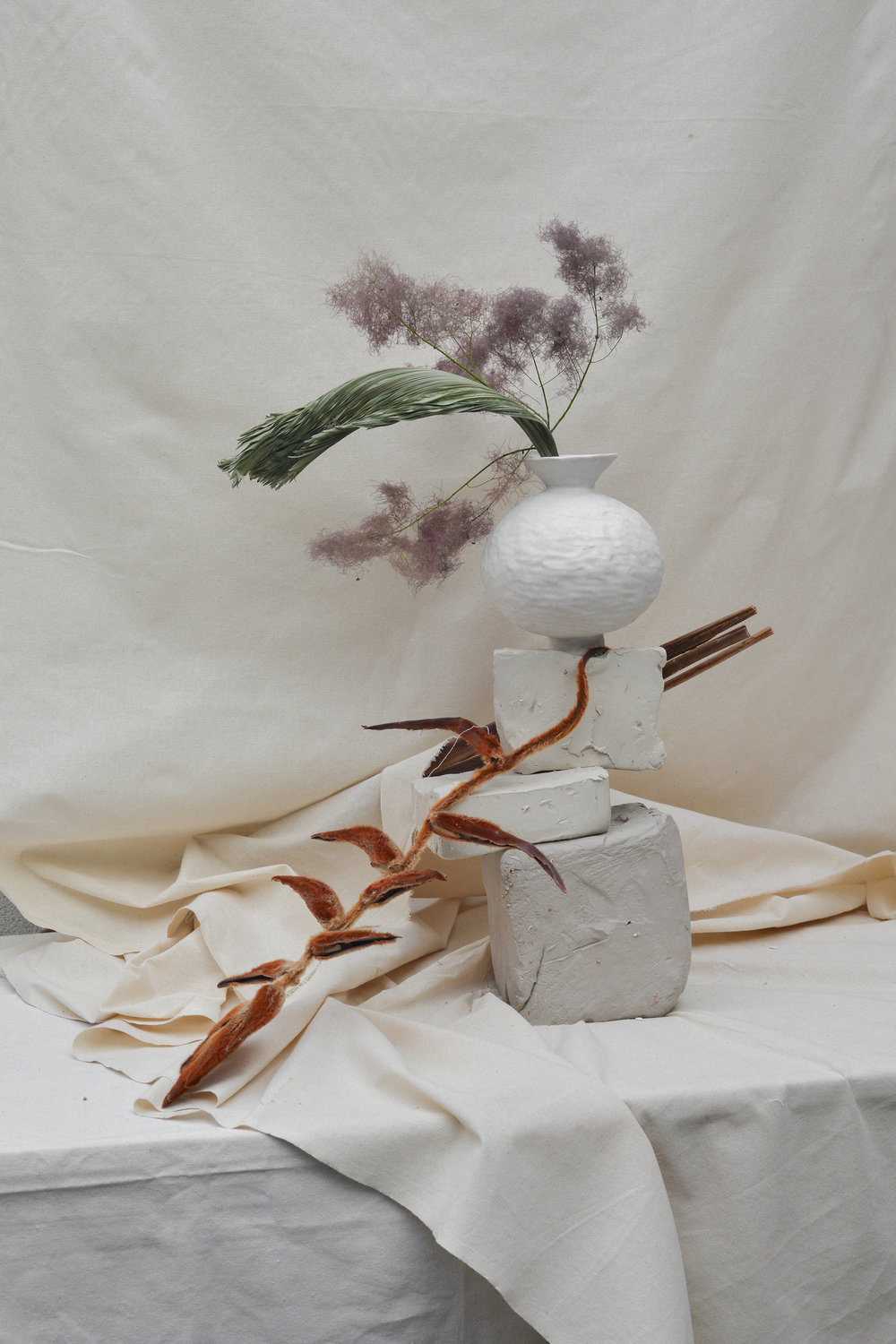 Photo by Jenna Saraco, Styling, Floral and Vessels by Simone Bodmer-Turner