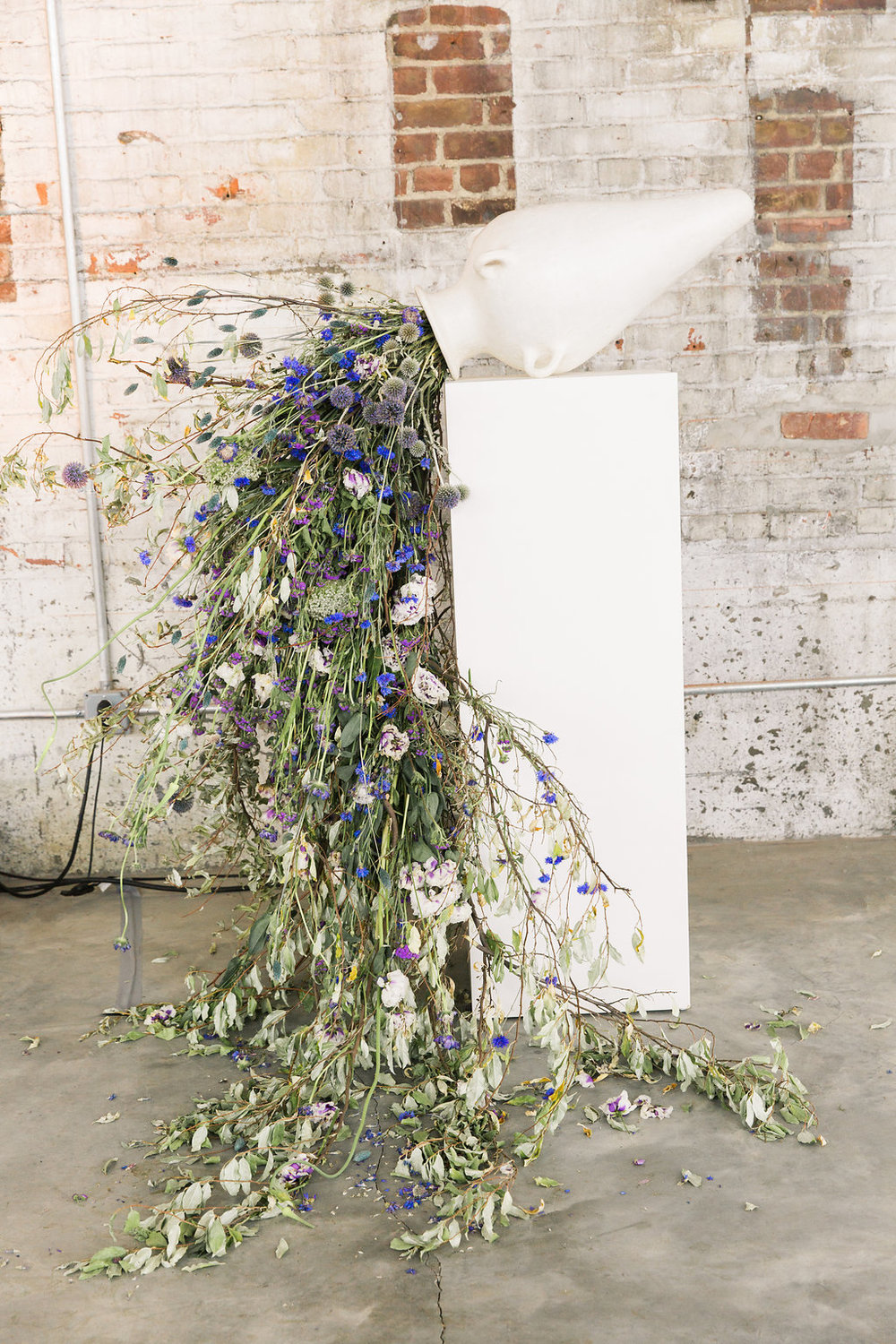 Floral installation by Saipua. Photo by Heather Waraksa