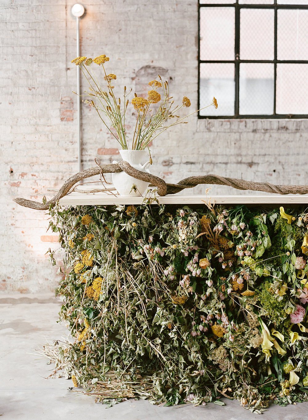 Floral installation by Saipua. Photo by Heather Waraksa.