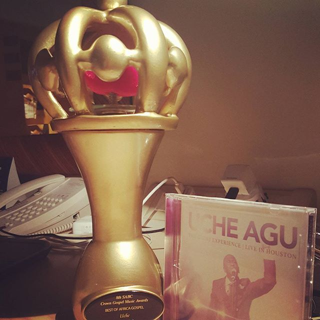 Congratulations to Uche as he wins the BEST OF AFRICA award at the CROWN GOSPEL AWARDS in Durban, South Africa.