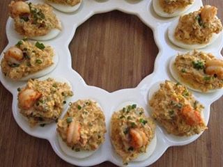 We're all about having a classy cookout this weekend. This #recipe for NOLA Crawfish Stuffed Deviled Eggs would be divine with our #champagne #mustard. Find the #recipe on our @facebook page.