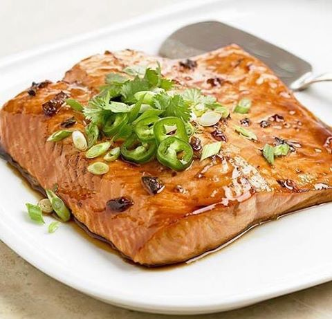 What's for #supper? We're diggin' this #recipe idea for salmon glazed with #pepperjelly and soy sauce from @betterhomesandgardens. Find the #recipe on our @facebook page.