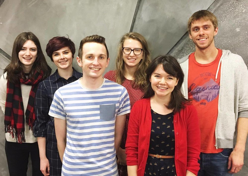 Left to right: Shannon Milligan, Sarah Coll, Andrew Thomson, Beth McCallum, Melissa Reid and Stephen O'Shea