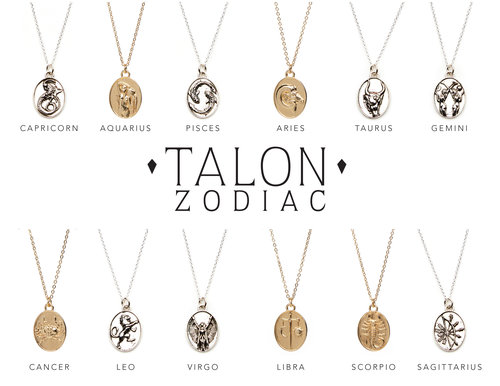 Zodiac Pendant Necklaces Talon