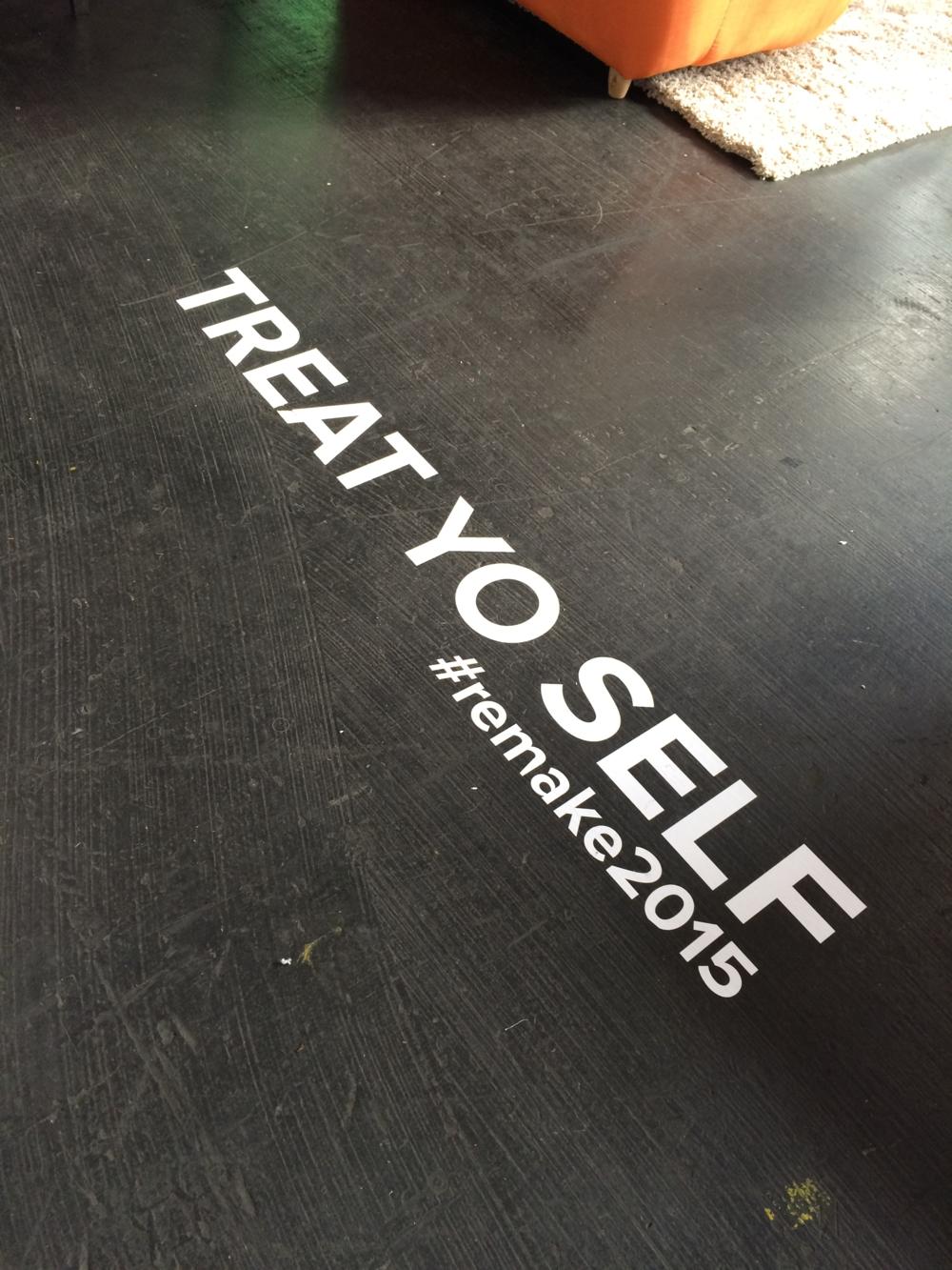 Even the floor was inspiring!