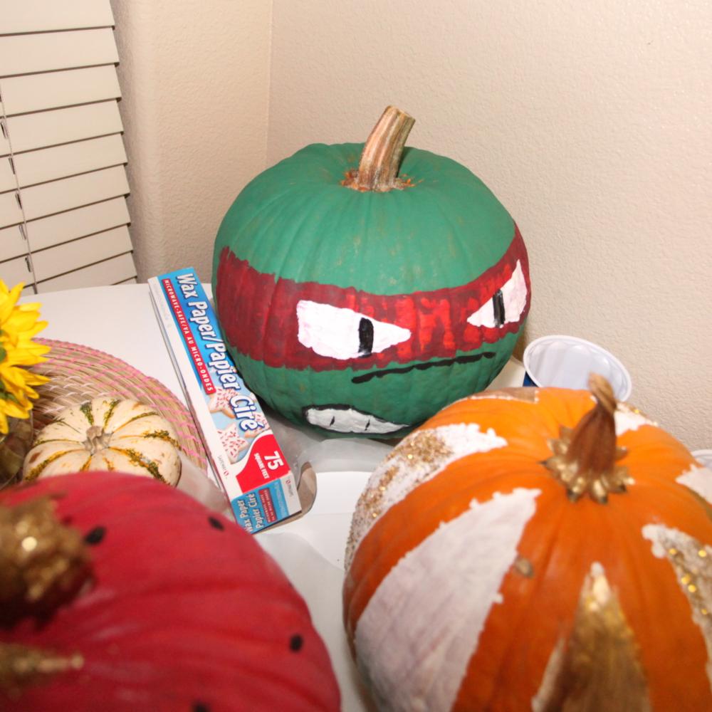 Jason's mutant ninja turtle pumpkin!