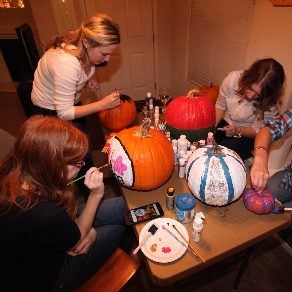 PUMPKIN PAINTING PALOOZA. - NOV. 2015