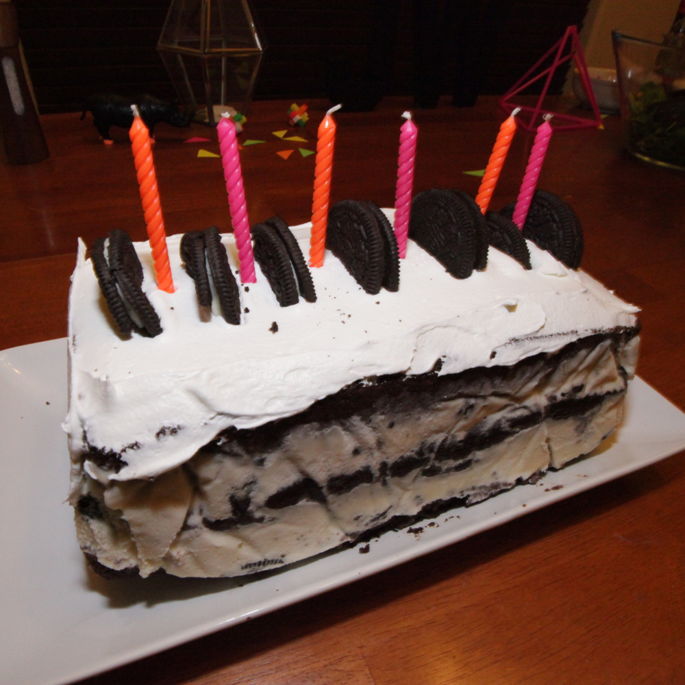 HOMEMADE OREO ICE CREAM BDAY CAKE. - MAR. 2015