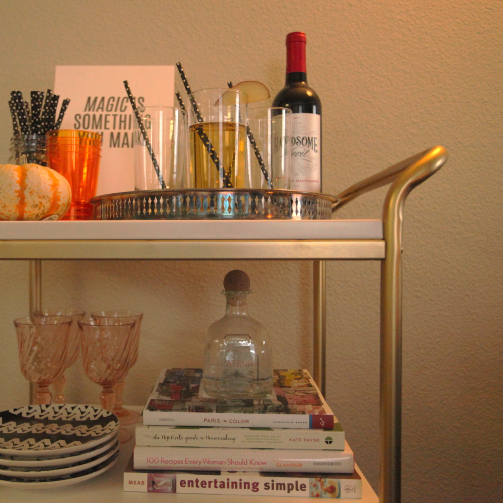 IKEA HACK BAR CART. - OCT. 2015