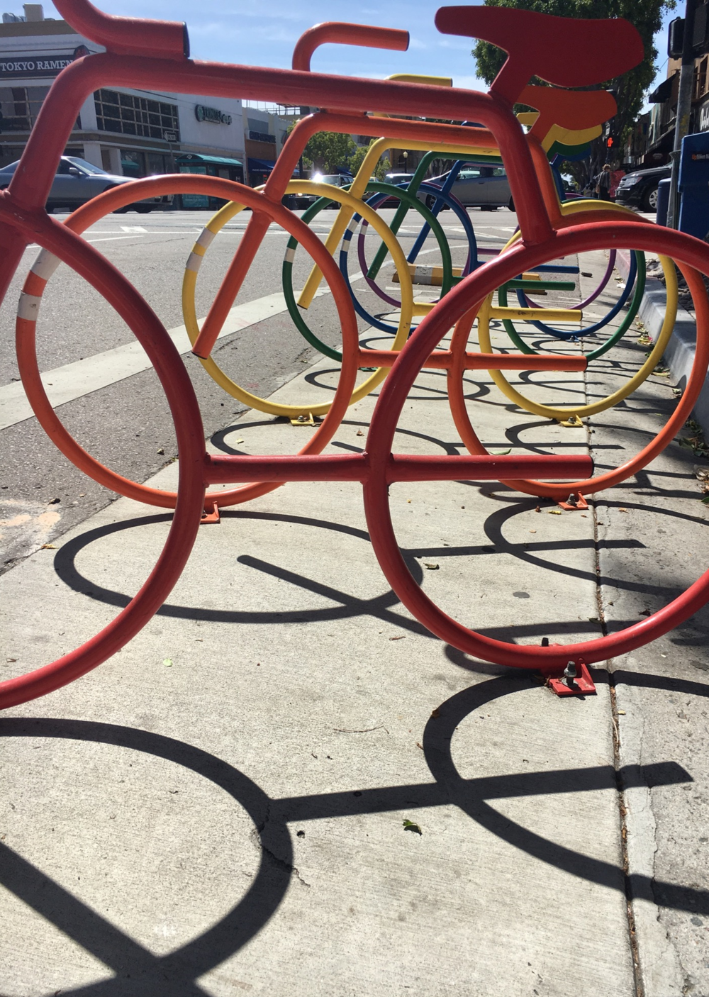 Pretty bikes racks (that double as art) in Hillcrest.