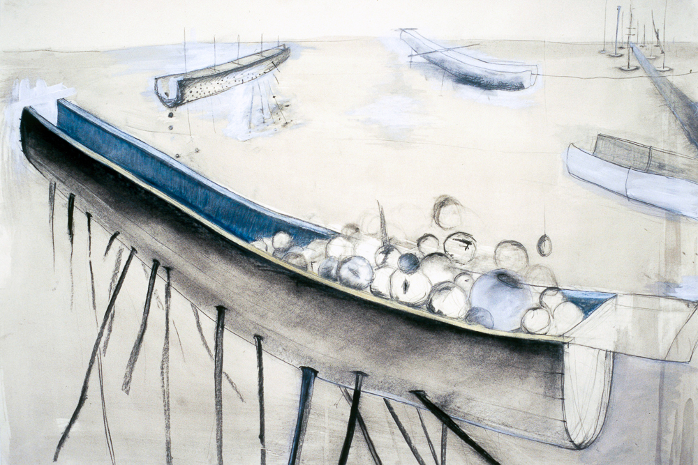 Carrier  , 2010 Pencil and watercolor on paper 42 x 53 in. (106.68 x 134.62 cm)