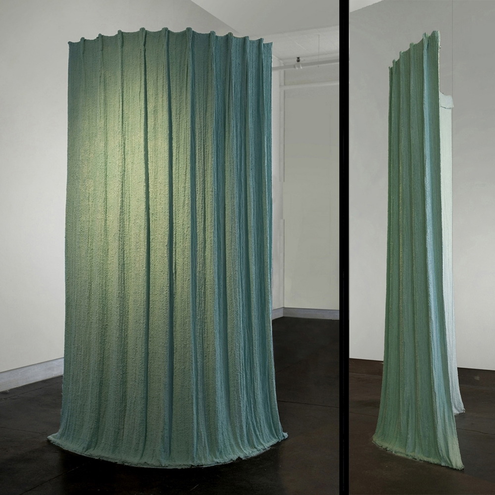 Viridian Drape,   2006 Fabric, hydrostone, resin and crushed fibers 82 x 48 x 24 in. (208.28 x 121.92 x 60.96 cm)