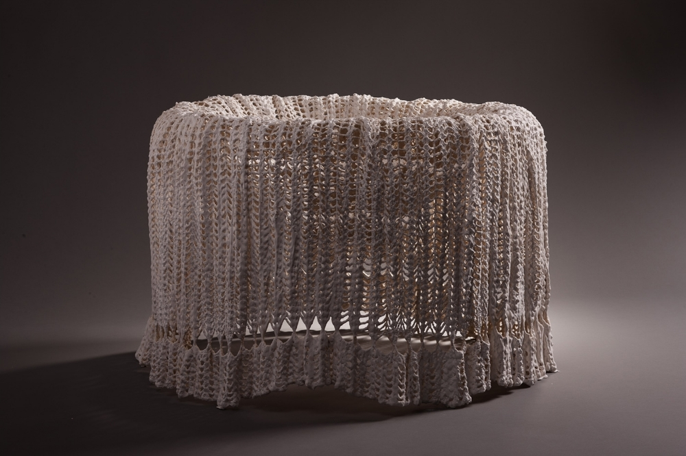 Sister  , 2012 Cast hydrocal and fabric 22 x 25 x 25 in. (55.88 x 63.5 x 63.5 cm)