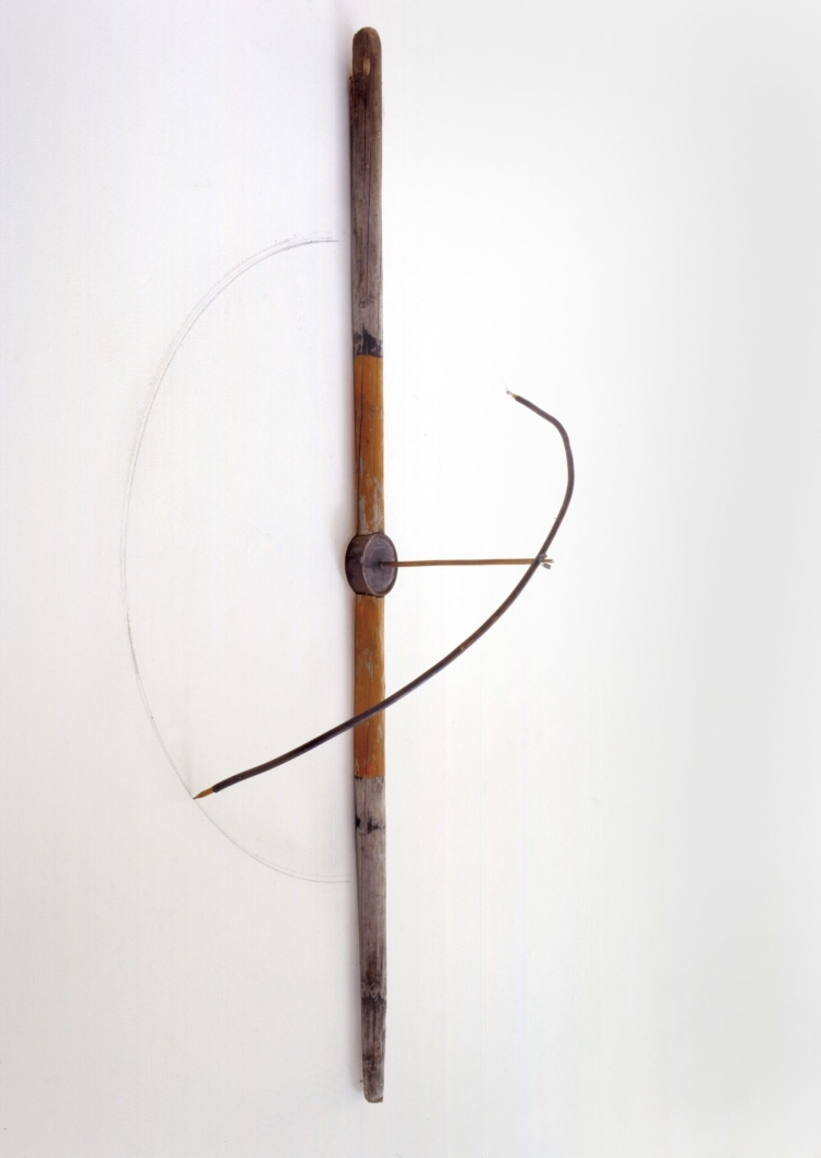 Compass Tool,   1998 Found objects, copper and plaster 60 x 30 x 30 in. (152.4 x 76.2 x 76.2 cm)