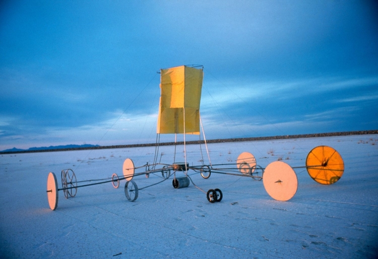 Wheels of Fortune,   1998 Commission for,  The Center For Land Use Interpretation  Site Specific Sculpture, Salt Flats, Nevada