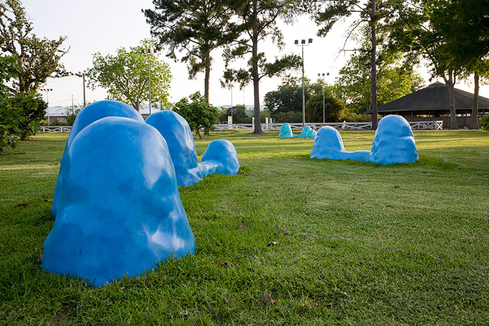 Blue Mounds,   2008 Site specific sculpture for  The St. Rose Project  Outdoor Sculpture Garden, St. Rose, LA