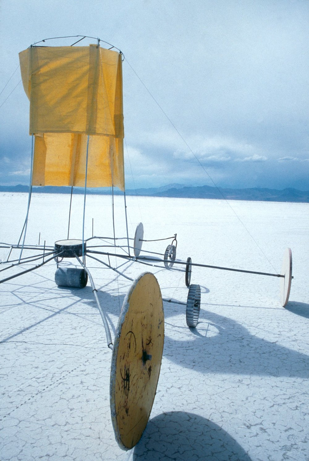 Wheels of Fortune,   1998 Commission for  The Center For Land Use Interpretation  Site Specific Sculpture, Salt Flats, Nevada