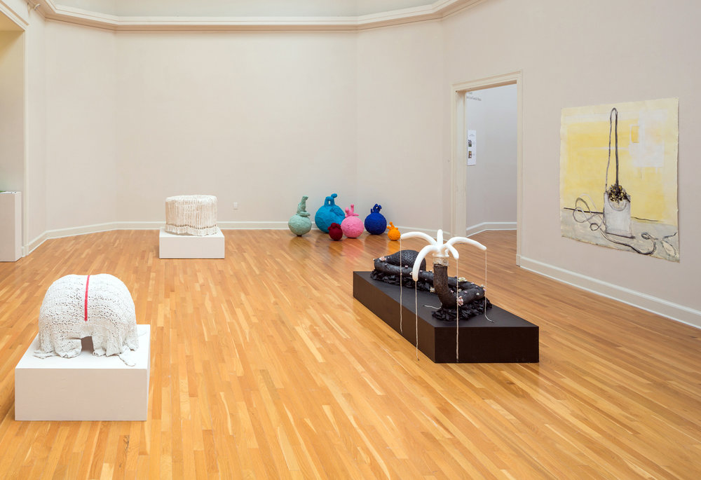 Jennifer Odem Installation view:   Interpretations: House and Universe, Sculptures and Drawings , 2013  Carroll Gallery, New Orleans, LA