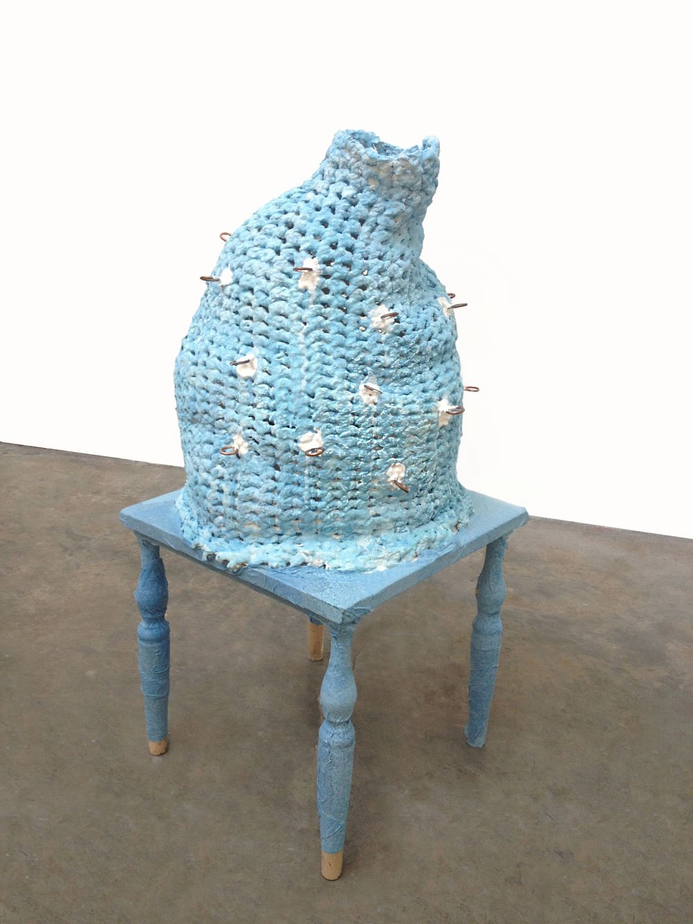 Blue Pearlinious,   2013  Cast hydrocal, concrete, pigment Dimensions variable
