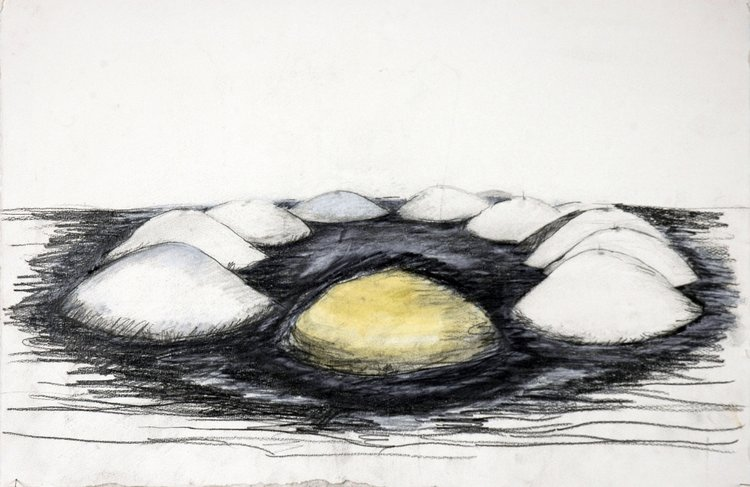 Study For Landscape  , 2006 Graphite and watercolor on paper 18 x 25 in. (45.72 x 63.5 cm)