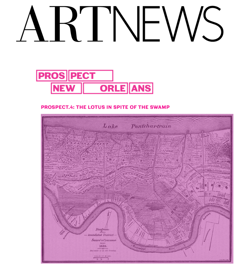 "Here's the Artist List for This Year's Prospect New Orleans Triennial - NEWS | ART NEWSMay 23rd, 2017 - ""Prospect.4: The Lotus in Spite of the Swamp"" coincides with New Orleans's tricentennial anniversary. The artist list follows in full below.READ MORE ▸"