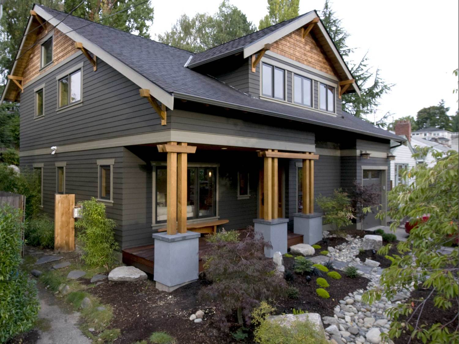 This Zen Craftsman Is A Second Story Addition And First Floor Renovation Of