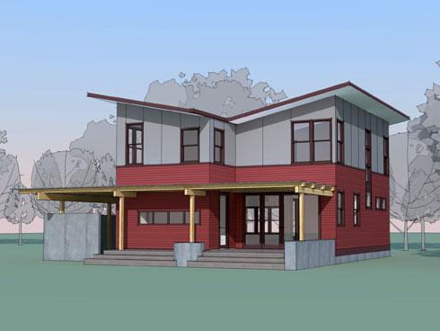 West Seattle Prefab Cast Architecture