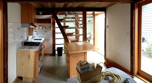 backyard cottage kitchen