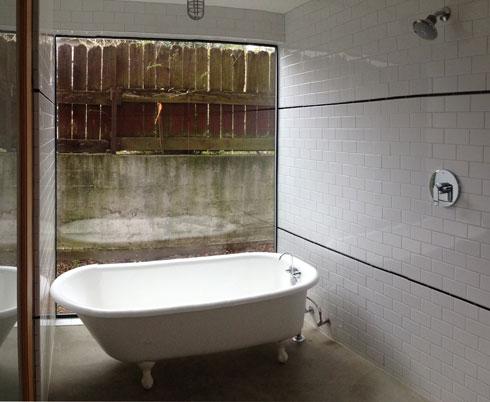 backyard cottage soaking tub