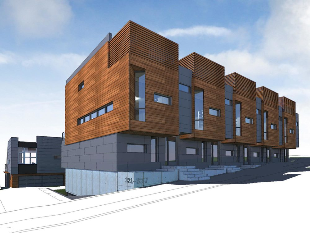 On the south slope of Queen Anne hill, we have designed a nine unit luxury townhouse development. Designed to meet the Passive House standard.