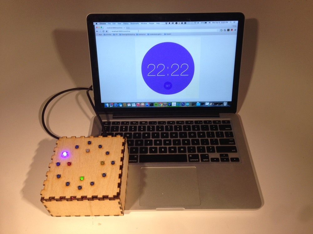 People can view time through both the web interface and the LED alarm. Then people can hit the SET button on the screen.
