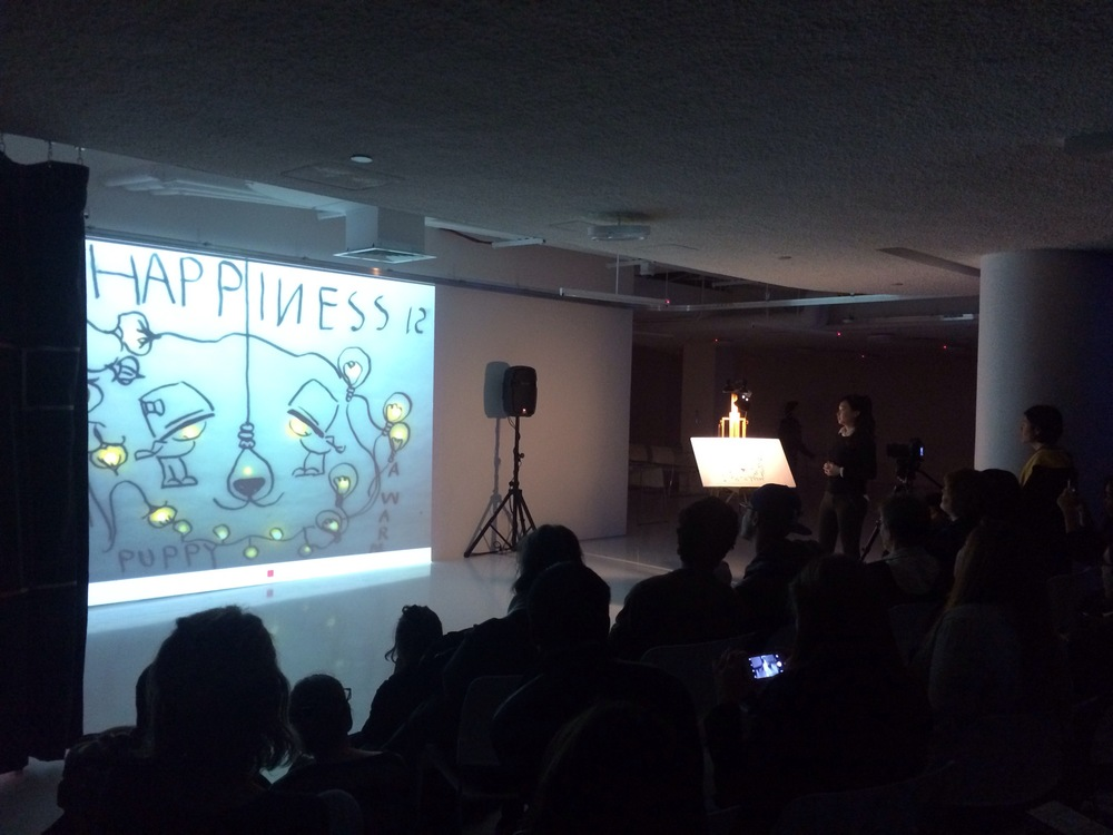 Drawing on LEDs: a live drawing performance at Museum of the Moving ...