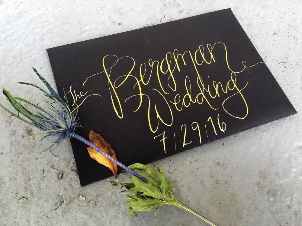 North Carolina Wedding Invitation Calligraphy
