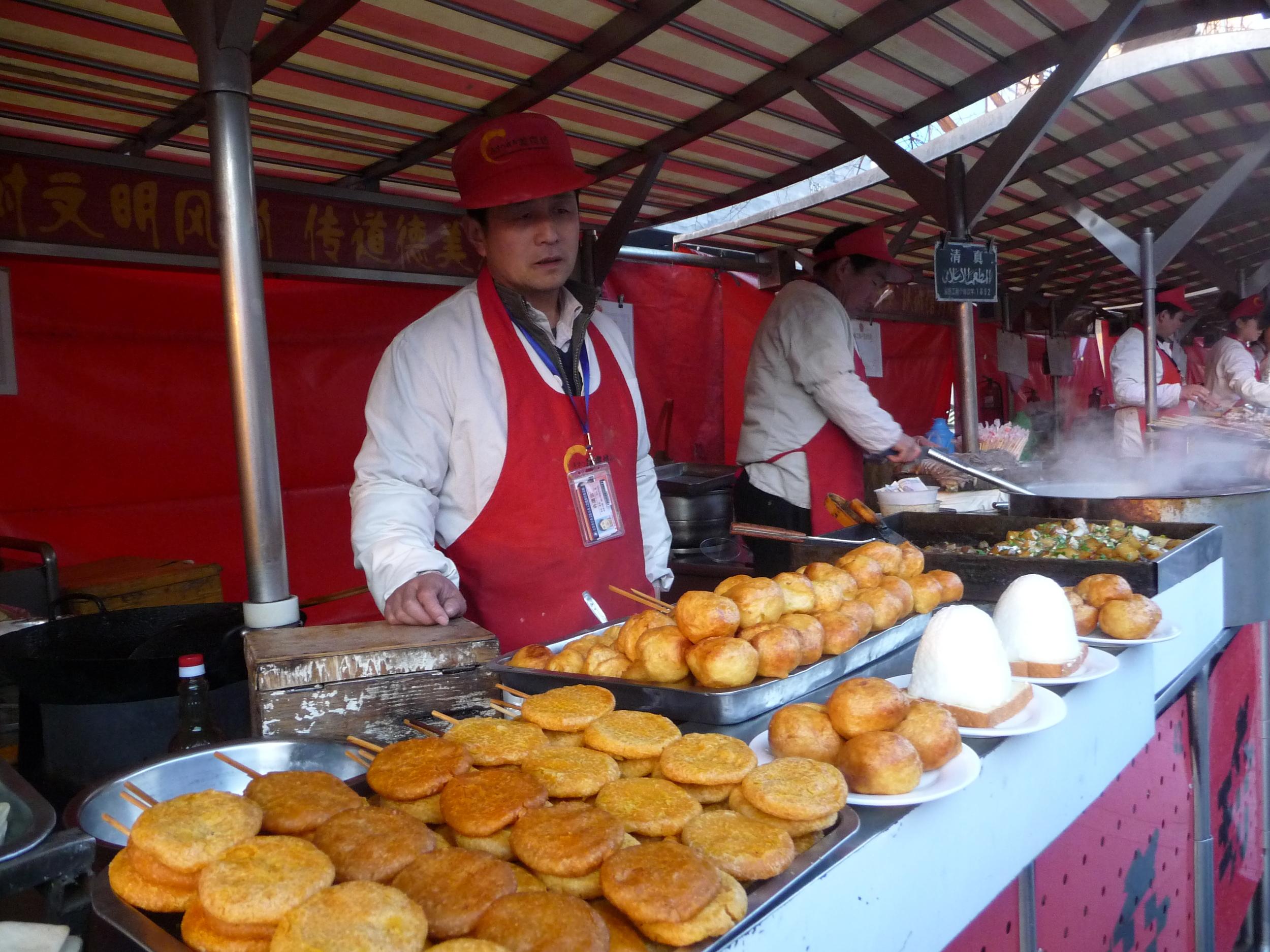 Donghuamen snack market