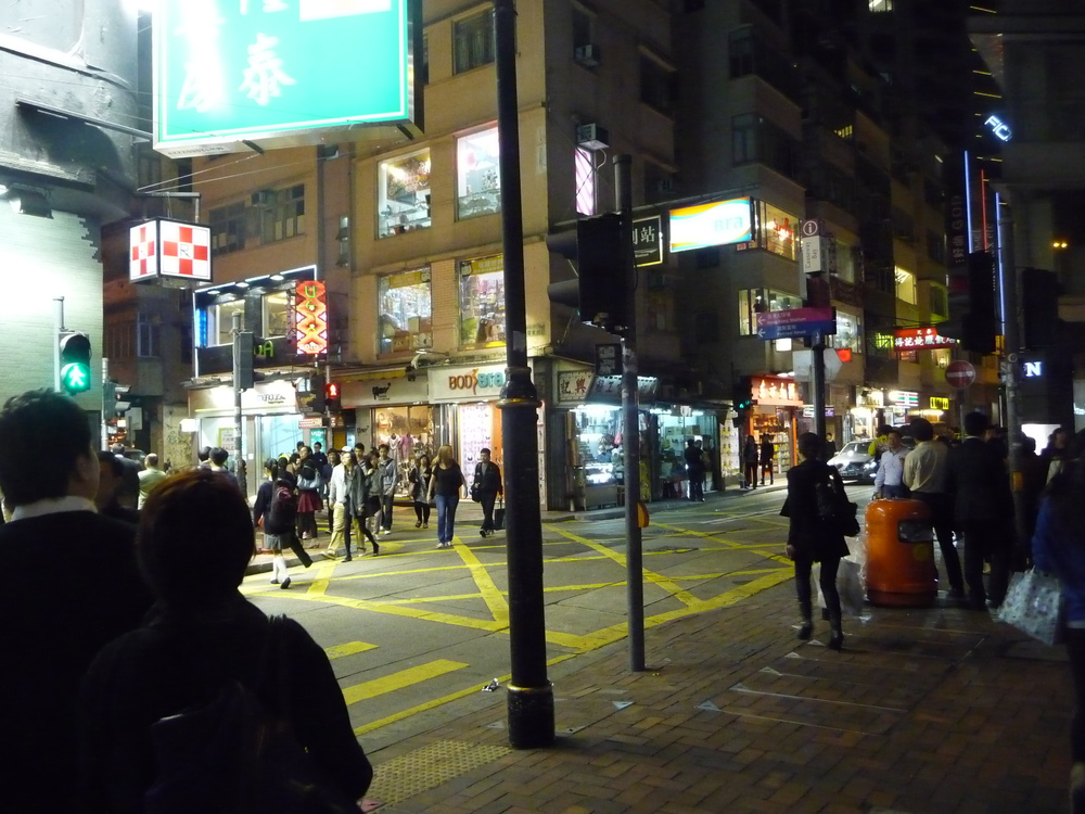 Early evening in Causeway Bay