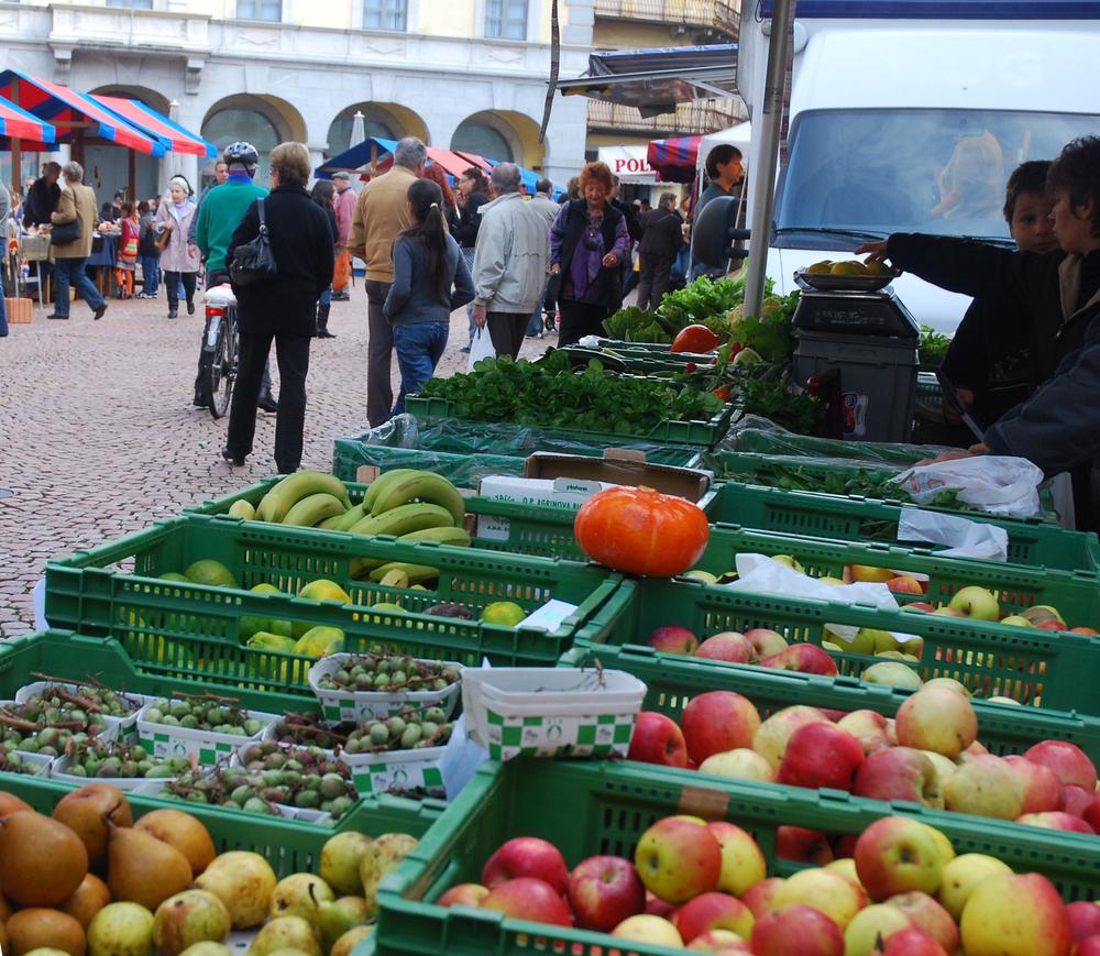 Bellinzona Market, Canton Ticino