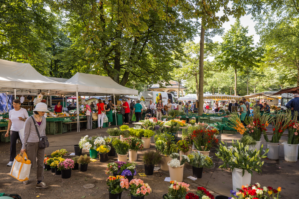 Friday flower market, Buerkliplatz
