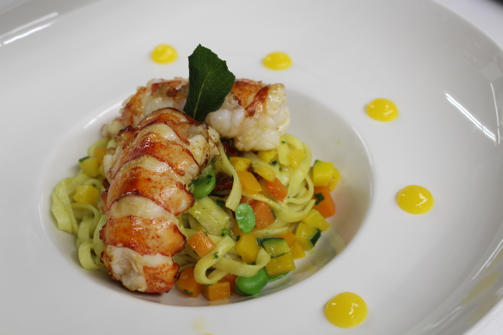 Fresh pasta with langoustines
