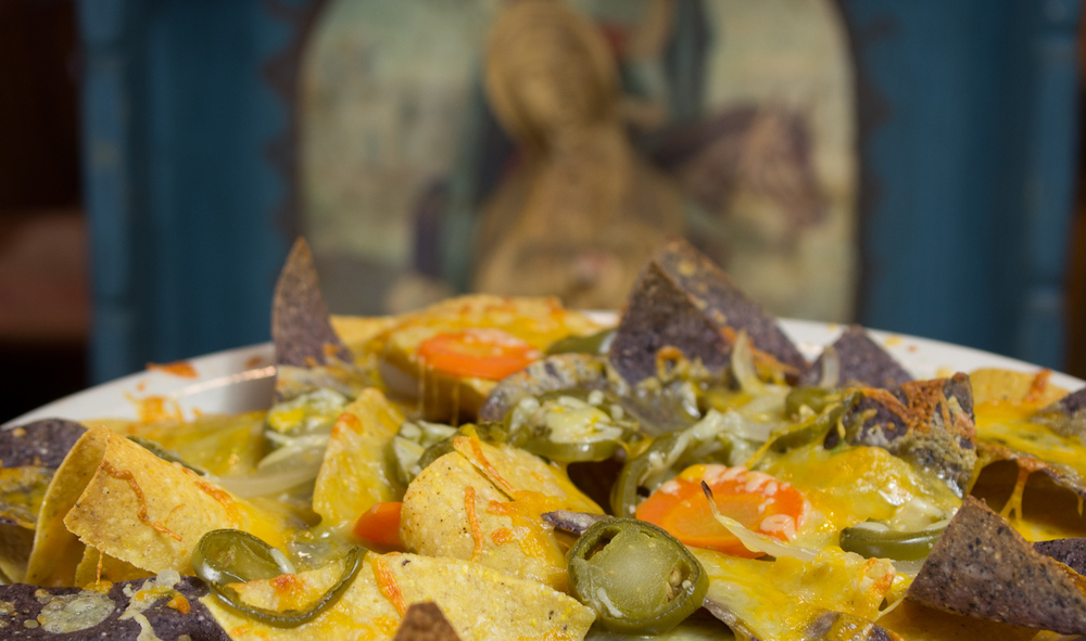 Nachos with our own pickled jalapenos