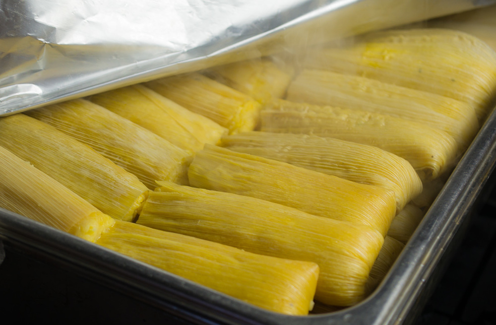 Fresh batch of tamales de elote