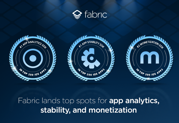 Fabric is #1 for app analytics, stability, and monetization