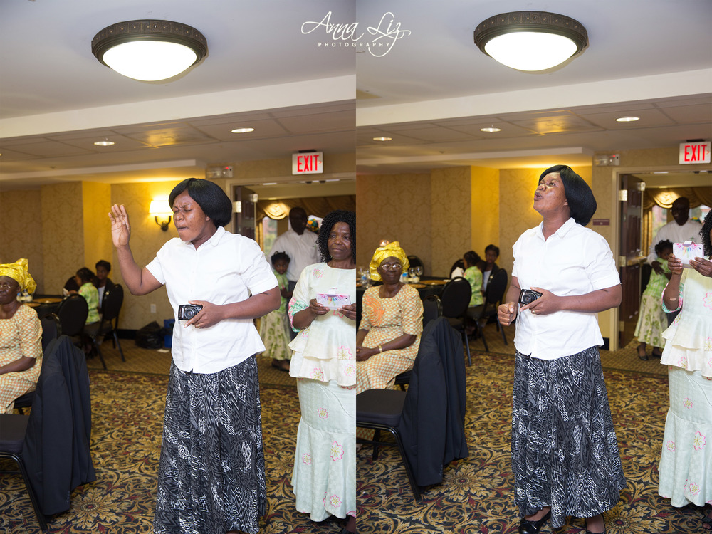 Pictured here is a guest singing a song for the celebrants.