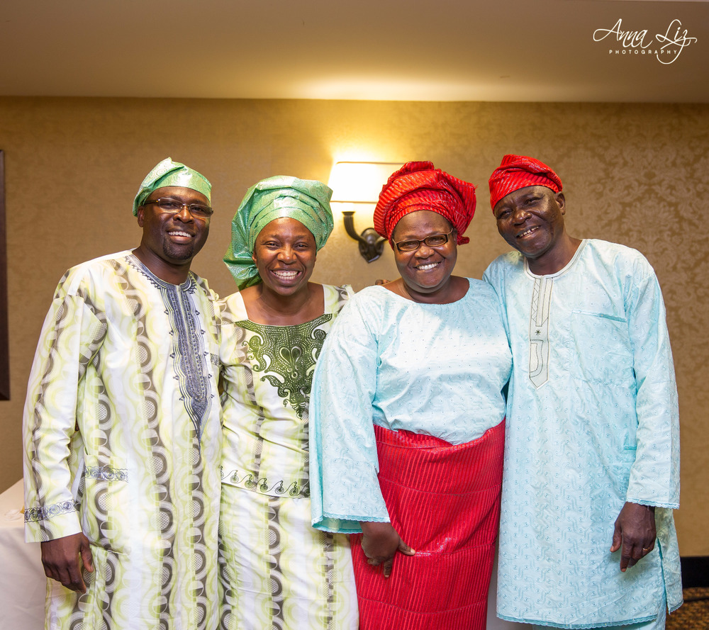 Mr. and Mrs. Obadare pictured here with son and daughter in-law.