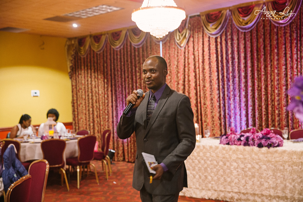 one of the MC's of the night