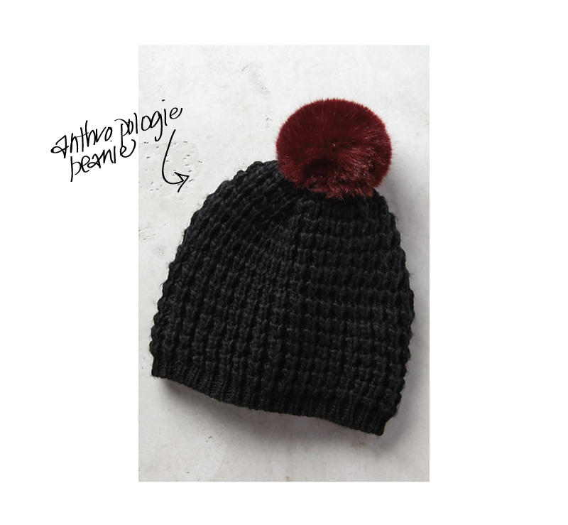 $49.50  cozy and warm knit with pom pom