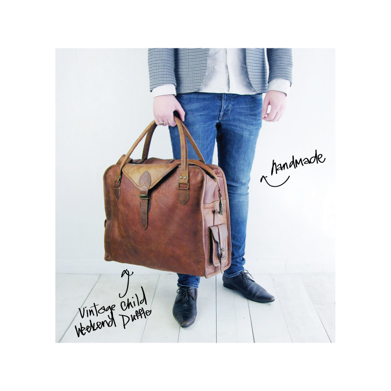 $219.16 hand made in the UK! large weekend bag that will fit in overhead compartments 3 month wait list